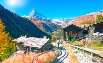 The Matterhorn near Zermatt, Switzerland.